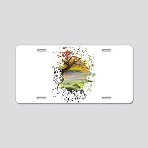 Over Looking Tree Aluminum License Plate