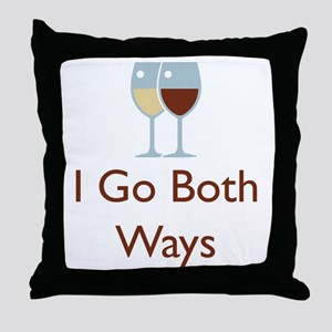 I go both ways Throw Pillow