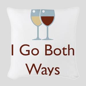 I go both ways Woven Throw Pillow