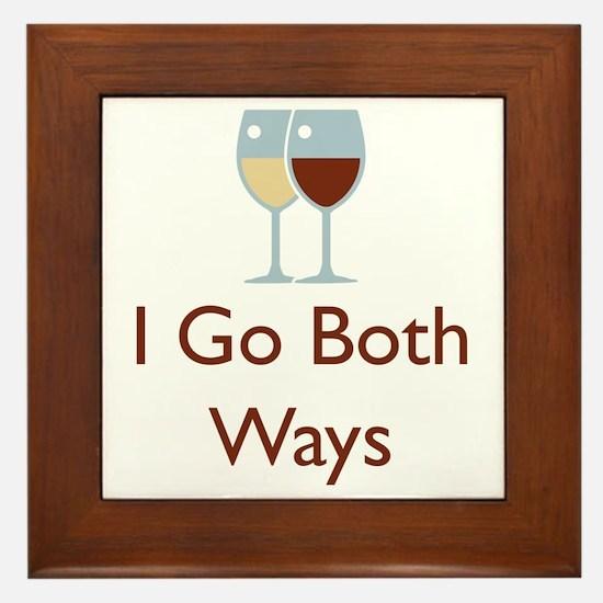 I go both ways Framed Tile