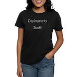 Barbed Wire Deployments Suck Women's Dark T-Shirt