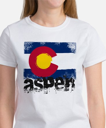 Aspen Grunge Flag Women's T-Shirt