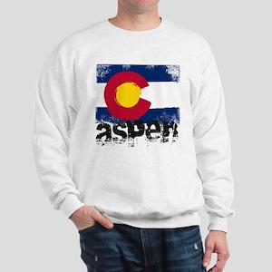 Aspen Grunge Flag Sweatshirt
