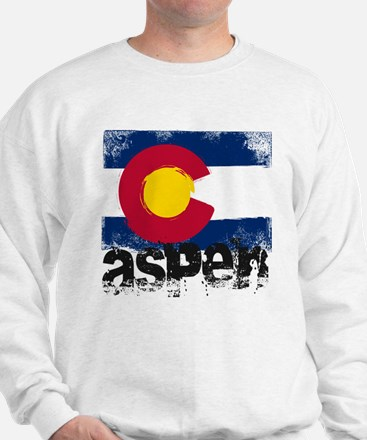 Aspen Grunge Flag Sweater