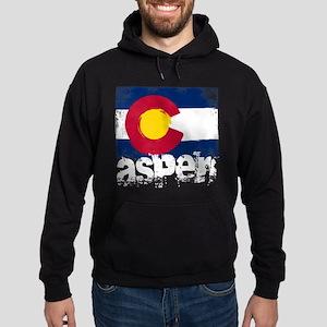 Aspen Grunge Flag Hoodie (dark)