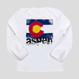 Aspen Grunge Flag Long Sleeve Infant T-Shirt