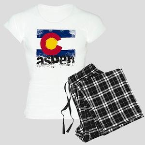 Aspen Grunge Flag Women's Light Pajamas