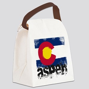 Aspen Grunge Flag Canvas Lunch Bag