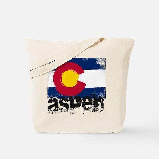 Aspen Grunge Flag Tote Bag