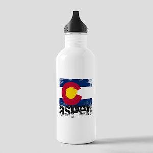 Aspen Grunge Flag Stainless Water Bottle 1.0L