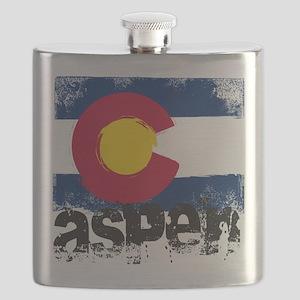Aspen Grunge Flag Flask