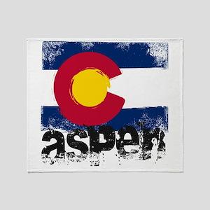 Aspen Grunge Flag Throw Blanket