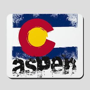 Aspen Grunge Flag Mousepad