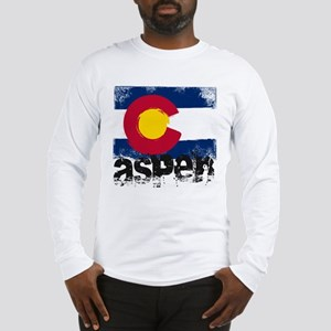 Aspen Grunge Flag Long Sleeve T-Shirt
