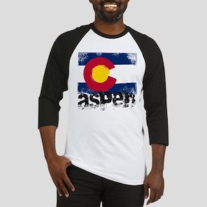 Aspen Grunge Flag Baseball Jersey