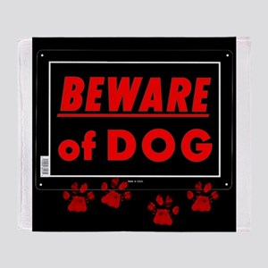 Beware of Dog full Throw Blanket