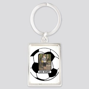 Photo and Name personalized soccer ball Keychains