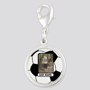 Photo and Name personalized soccer ball Charms