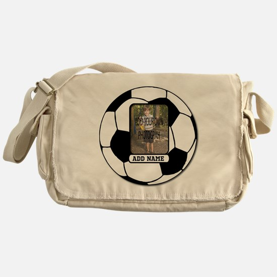 Photo and Name personalized soccer ball Messenger