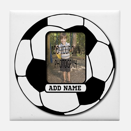 Photo and Name personalized soccer ball Tile Coast