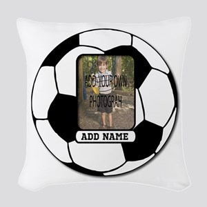 Photo and Name personalized soccer ball Woven Thro