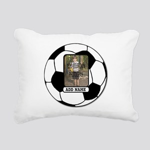 Photo and Name personalized soccer ball Rectangula