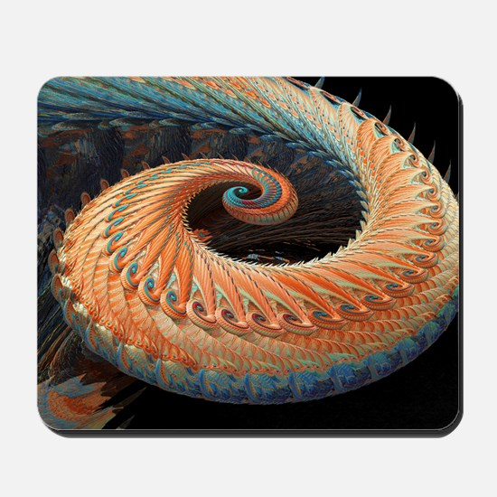 Dragon tail fractal Mousepad