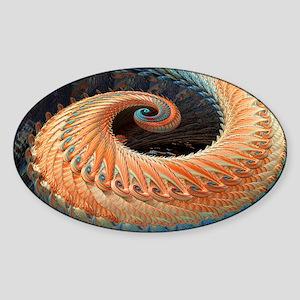 Dragon tail fractal Sticker (Oval)