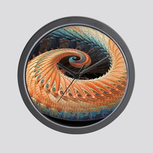 Dragon tail fractal Wall Clock