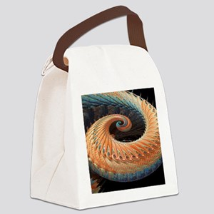 Dragon tail fractal Canvas Lunch Bag