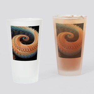 Dragon tail fractal Drinking Glass
