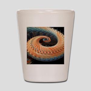 Dragon tail fractal Shot Glass