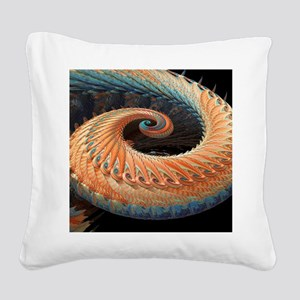 Dragon tail fractal Square Canvas Pillow