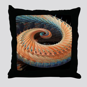 Dragon tail fractal Throw Pillow
