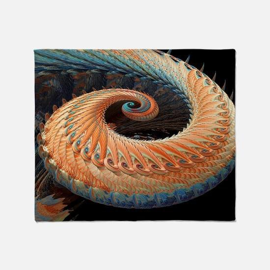 Dragon tail fractal Throw Blanket