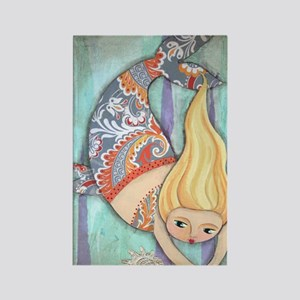 cute chubby mermaid Rectangle Magnet