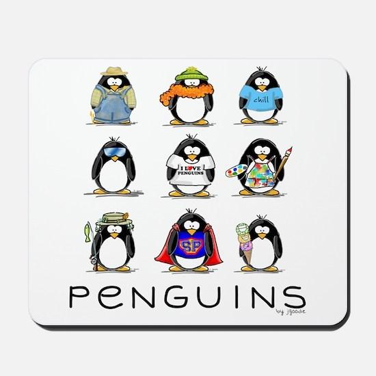 Nine Penguins Mousepad
