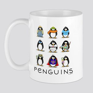 Nine Penguins Mug
