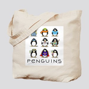 Nine Penguins Tote Bag