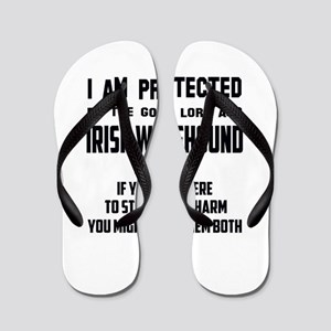 I am protected by the good lord and Iri Flip Flops