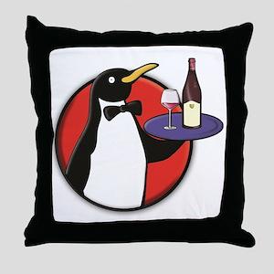 Classy Penguin Throw Pillow