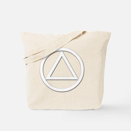AA_symbol_white Tote Bag