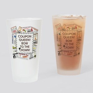 COUPON QUEEN! Drinking Glass