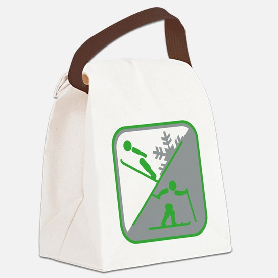 nordische kombination symbol Canvas Lunch Bag