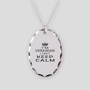I Am Ukrainian I Can Not Keep Calm Necklace Oval C