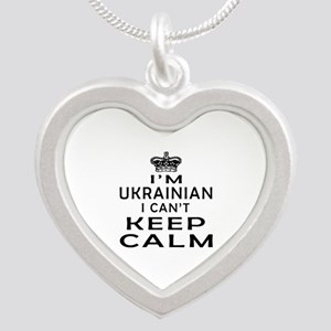 I Am Ukrainian I Can Not Keep Calm Silver Heart Ne