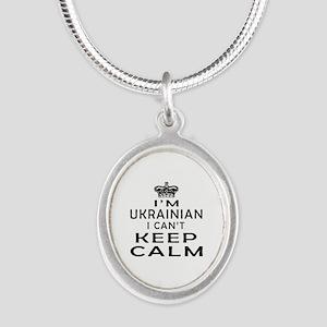 I Am Ukrainian I Can Not Keep Calm Silver Oval Nec