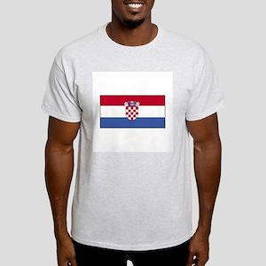 Croatia Flag Ash Grey T-Shirt