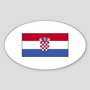 Croatia Flag Oval Sticker