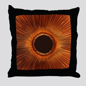An abstract hole Throw Pillow